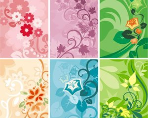 Abstract floral ornaments patterns