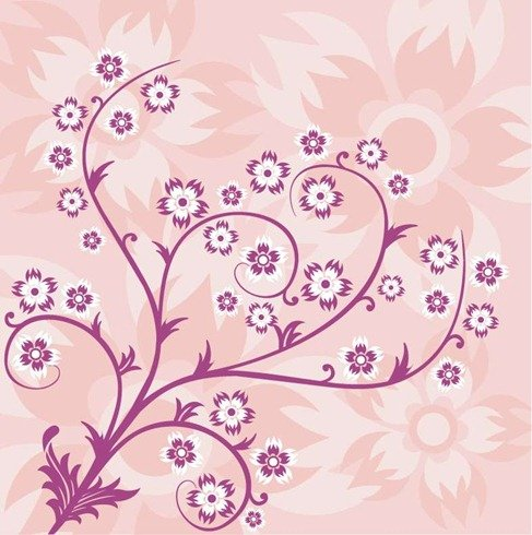 Abstract Floral Pink Background