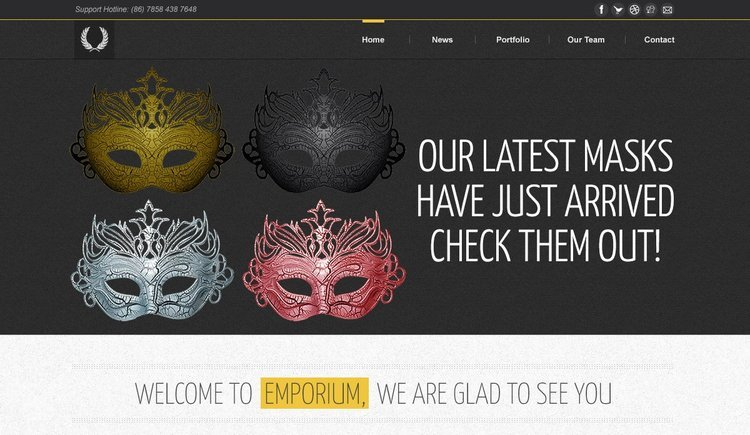 Emporium Free Ecommerce PSD Website Template