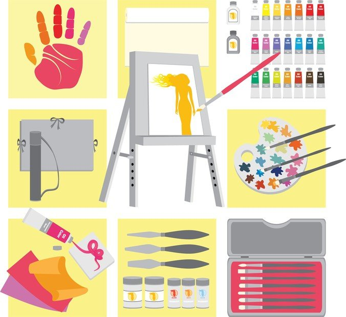 Vector Drawing Supplies