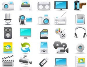 Stock Vector icons video#2