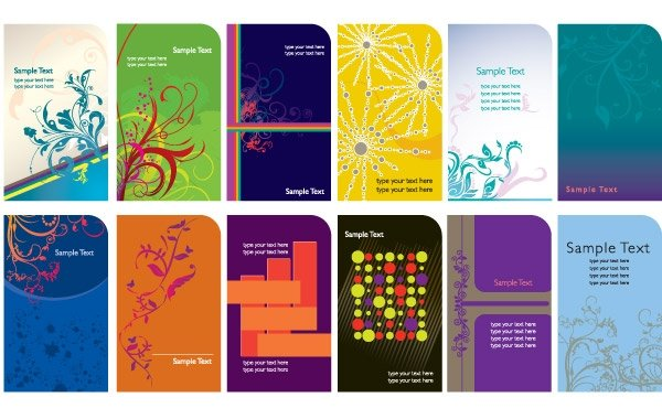 Trend Card Template Vector Graphics Business Cards line