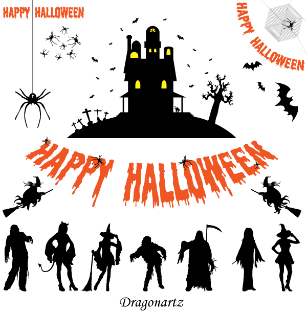 free free halloween silhouettes vector art psd files vectors rh 365psd com Halloween Cartoon Vector Free Halloween Cartoon Vector Free