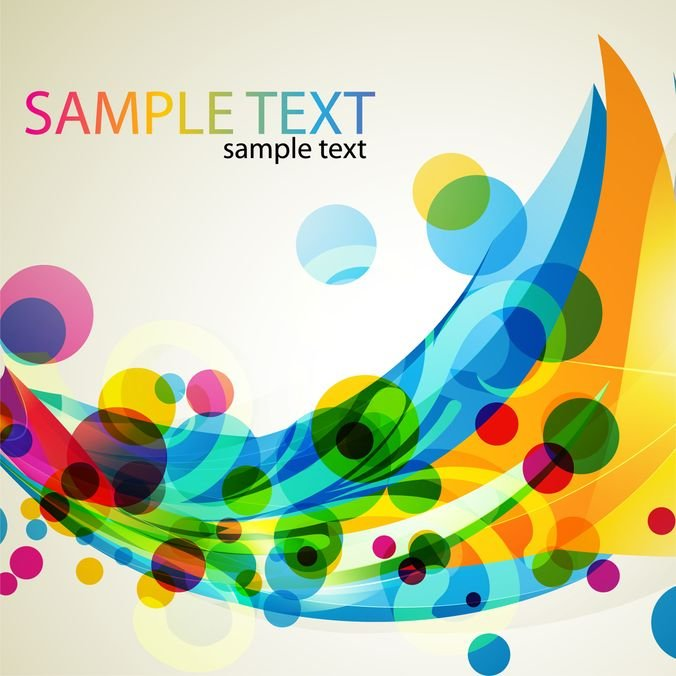 Abstract Colored Design Vector Art
