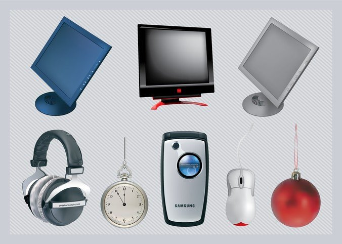 Free 3D Vector Technology Objects