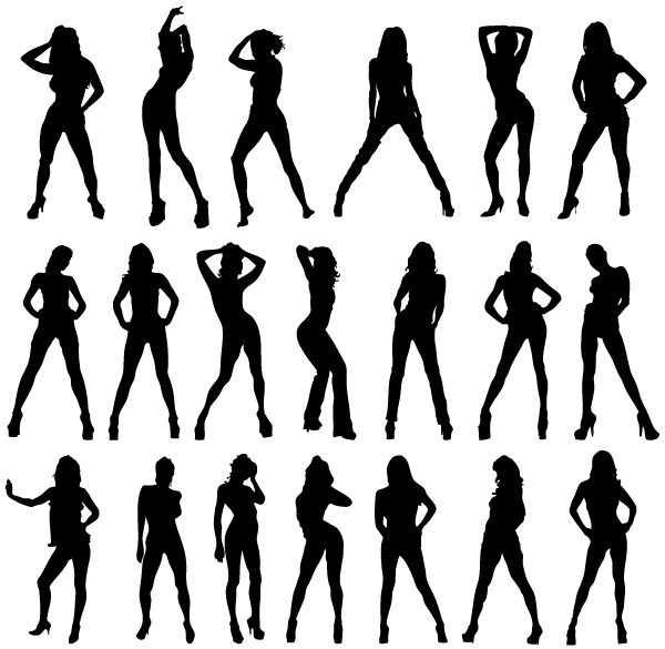 free sexy girls silhouettes vector image free psd files vectors rh 365psd com Vector Girl for Stick Dog Toss Girl Vector Graphics