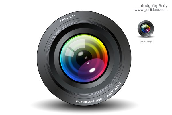 Free Camera Lens Icon PSD PSD Files, Vectors & Graphics