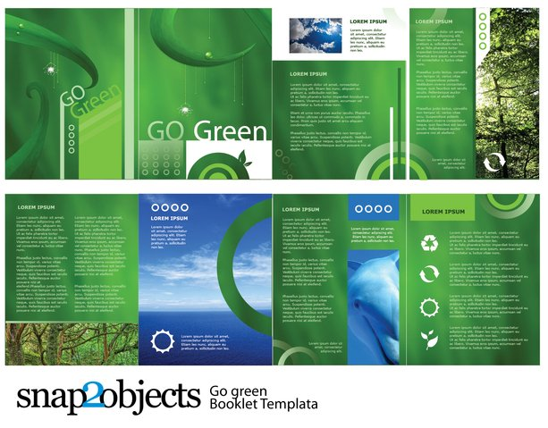 free free go green vector booklet template psd files vectors graphics 365psdcom