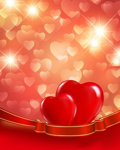 Valentines Day Red Love Background