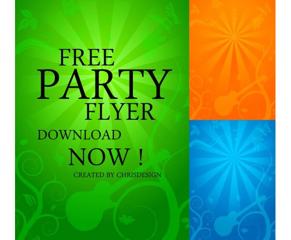 Free Party Flyer Background, Vectors - 365PSD.com