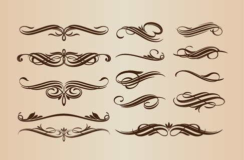 Calligraphic Elements Vector Set for Design