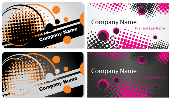 Abstract business card vector template vector graphic 365psd reheart Gallery