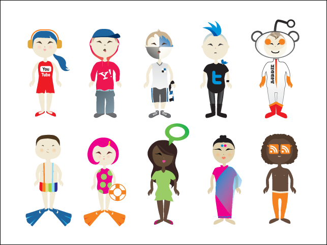 Social Vector Kids Social Vector Kids Vector File For Free