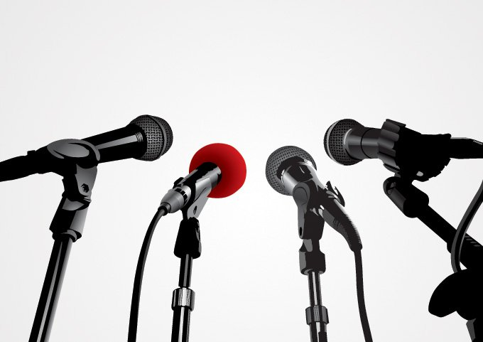 Press Conference Microphone Vector Graphics (Free), vector ...