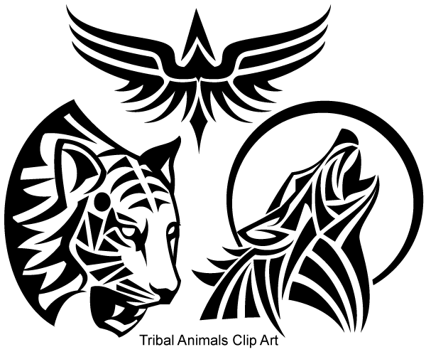 Tattoo Line Drawing Software : Free tribal animals vector art psd