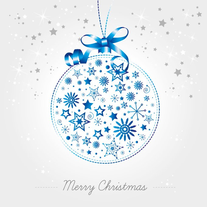 Free Christmas Ball Vector Ornament Made of Snowflakes ...