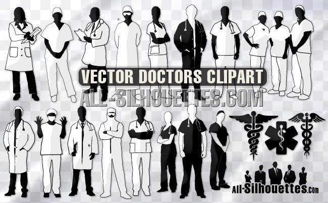 20 Vector medic doctor nurse