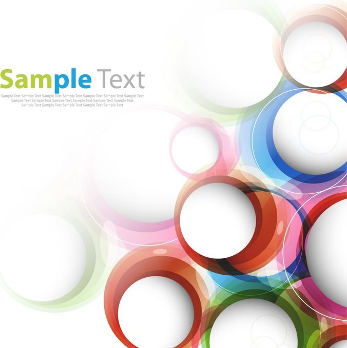 Abstract Illustration with Colorful Circles