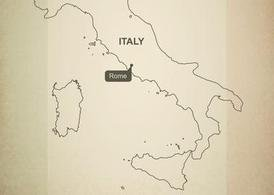 Free Vector Map of Italy
