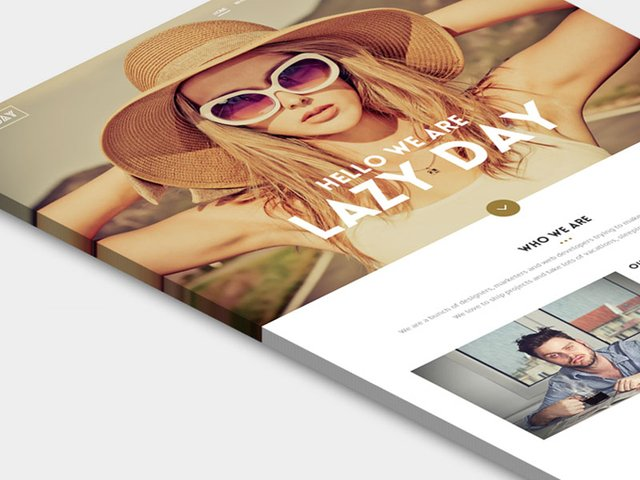 Lazy Day One-Page Template