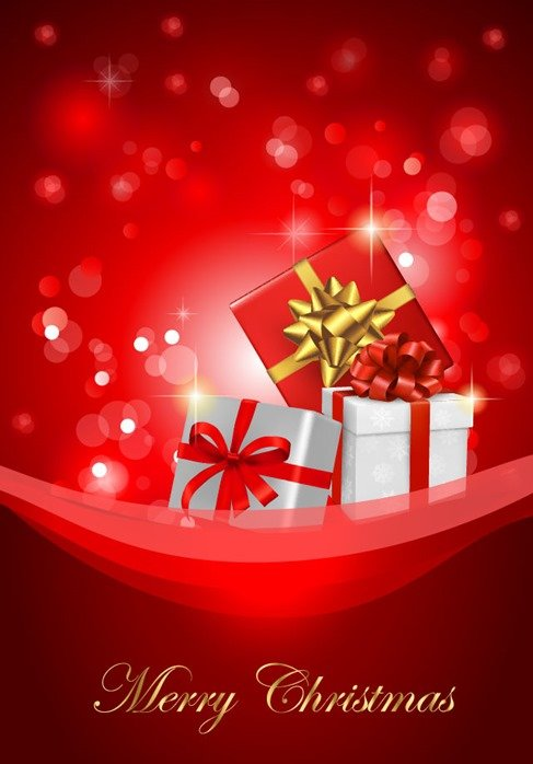 Christmas Background with Gift Box