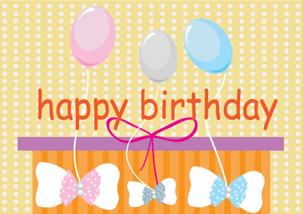 Free Free Vector Happy Birthday Card With Balloons Psd Files