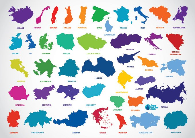 Free europe country outline map vectors free psd files vectors free europe country outline map vectors free psd files vectors graphics 365psd gumiabroncs Images