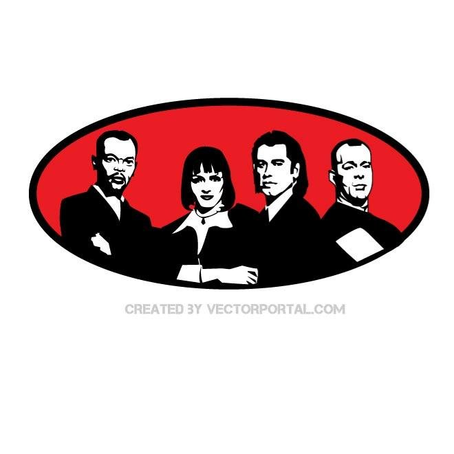 PULP FICTION MOVIE VECTOR.eps