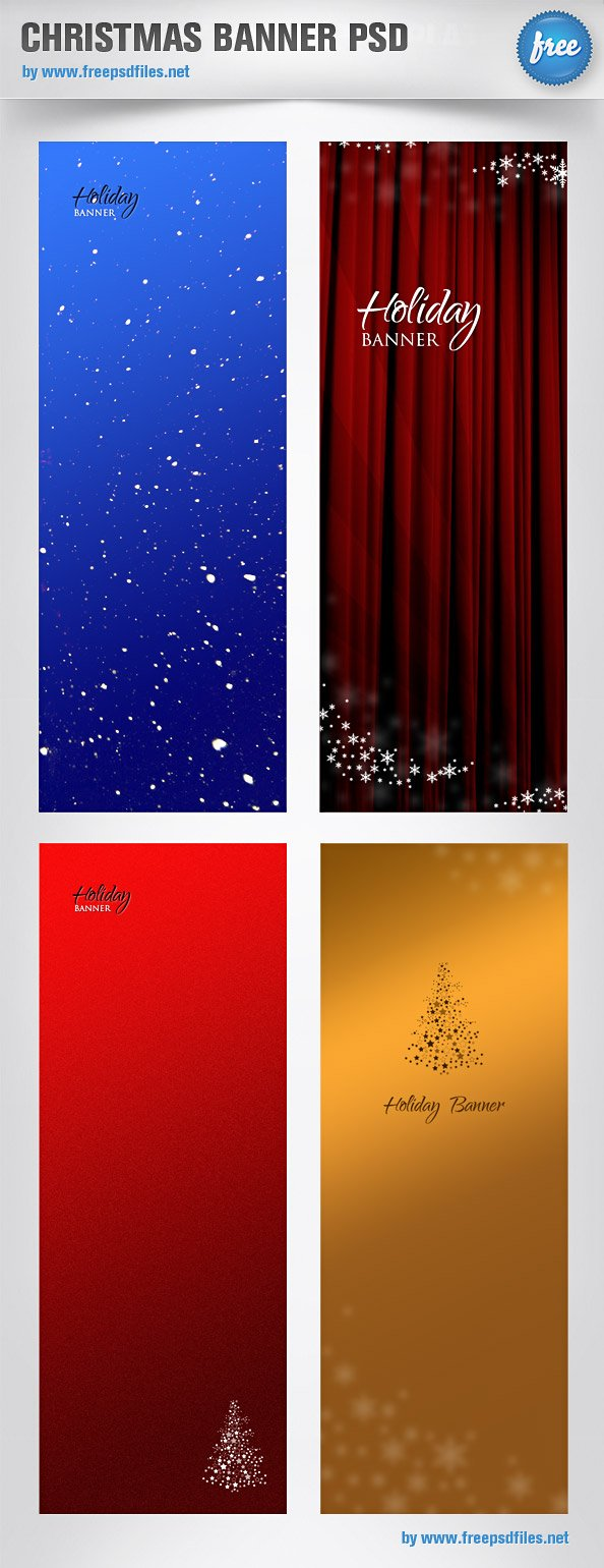 Free Christmas Banner PSD Templates PSD files, vectors & graphics ...