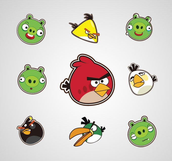 Angry Birds Vector Icons (Free)