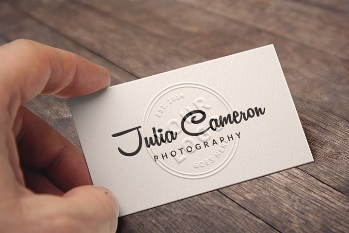 free embossed business card mockup psd files vectors graphics 365psdcom - Business Card Mockup