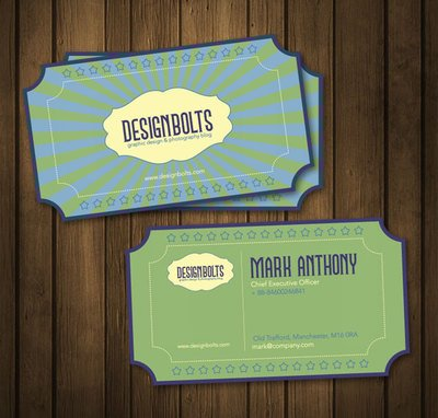 Retro business card template vector images 365psd fbccfo Choice Image