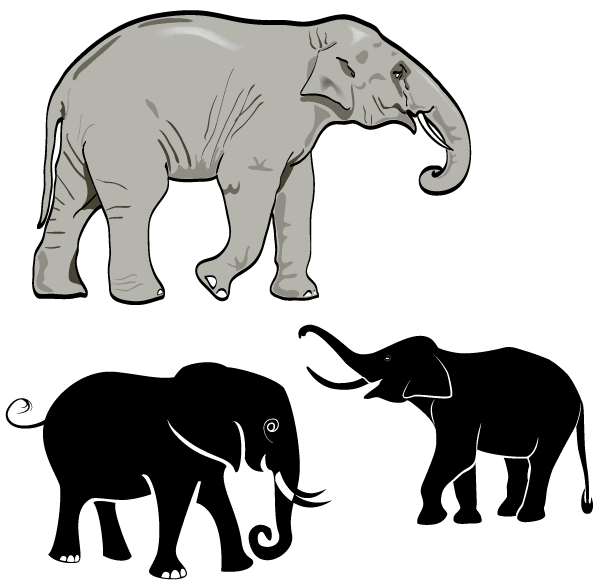 free elephant vector art, vector images - 365psd