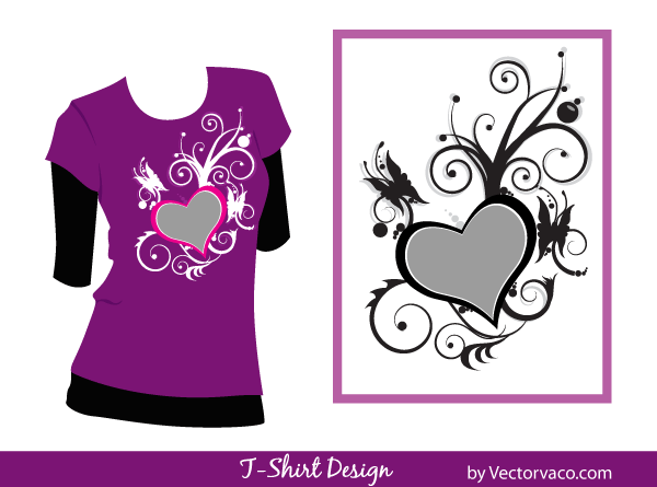 Free T Shirt Design Floral Vector Images