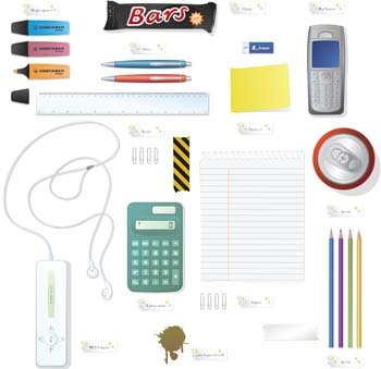 Phone Mp3 Player Pencil Calculator and Office set