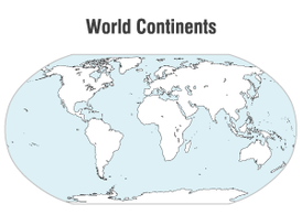 World Continents Map