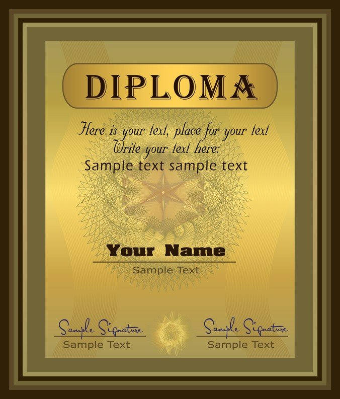Free gorgeous diploma certificate template 04 psd files vectors free gorgeous diploma certificate template 04 psd files vectors graphics 365psd yelopaper Choice Image