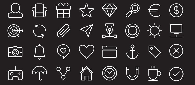 40 Sympletts Stroke Minimalistic Icons Vector Pack