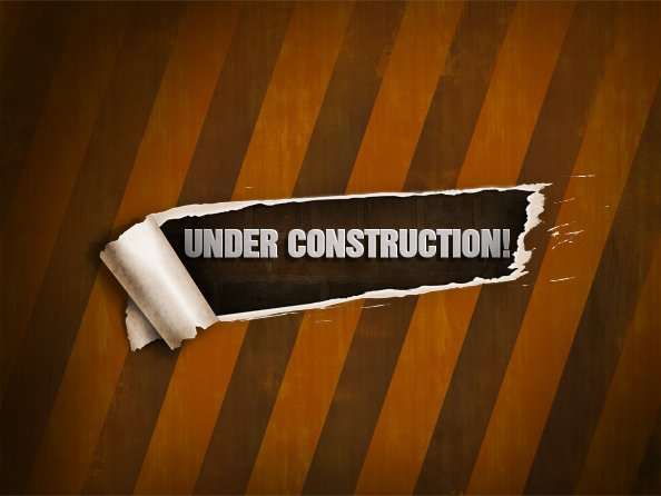 PSD Template of Under Construction Page