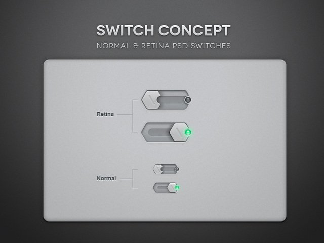 Psd Toggle Switch UI