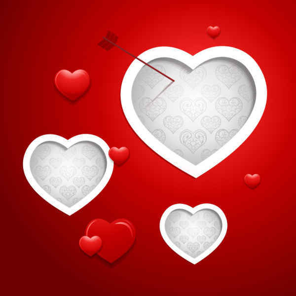 Valentine Vector Red Background