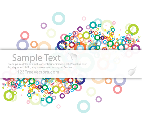 Vector Abstract Colorful Background Banner Vector File For