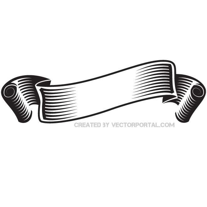 Free BLACK AND WHITE RIBBON VECTOR eps PSD files, vectors