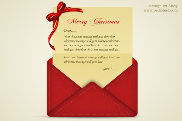 Christmas Greetings Letter Psd Vector Files  PsdCom