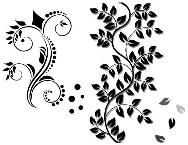 Line Art Vector Free Download : Free floral ornament vector download psd files