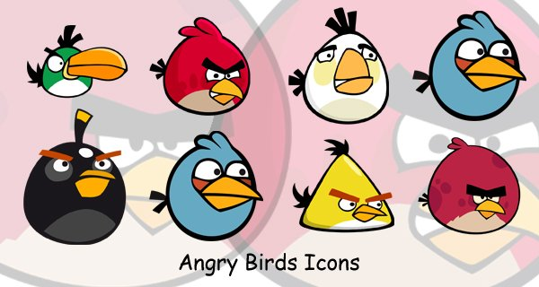 Angry Birds Icons, Free