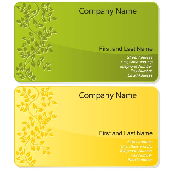 free floral design business card template free vectors