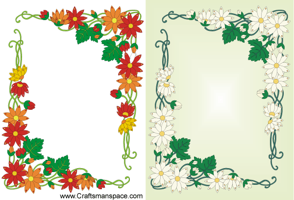 Free Vector Floral Frame Design in Art Nouveau Style, vector ...
