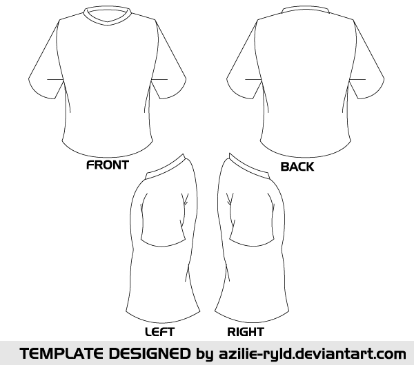 Free Blank Tshirt Template Vector Front And Back Psd Files Vectors