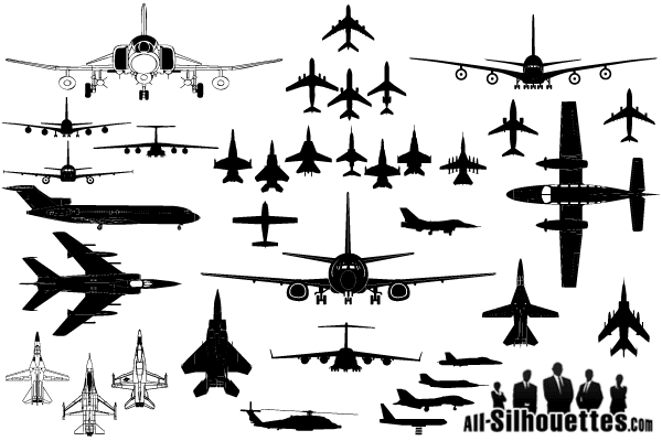 free vector airplane clipart silhouettes psd files vectors